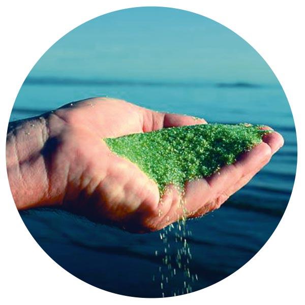 AFM Активированный Фильтрующий Материал из зеленого стекла